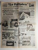 N481 La Une Du Journal Le Parisien 3 juin 1953 l'expédition anglaise a réalisé