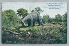 Diplodocus~Antique Dinosaur Paleontology Hamburg~Carl Hagenbeck Tierpark 1912