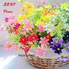 Hot Silk Flowers Beautiful 28 Head Chrysanthemum Park Garden Decoration Items