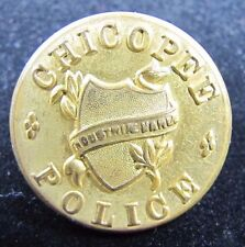 Old CHICOPEE POLICE Button Scovill Mfg Co Waterbury ornate NOAG