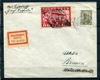 Russia 1930 ZEPPELIN RARE Flight Cover Moscow to Germany 4165