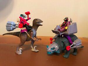 Tyco Dino Riders Rulon Deinonychus and Monoclonius Incomplete