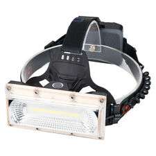Powerful LED COB Head Torch Wide Angle Headlamp Camping USB Headlight 18650