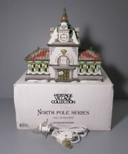 """1996 Department 56 North Pole Series """"Hall of Records"""" Light Up Building"""