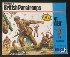 3-KIT LOT - MPC World War II Plastic Paratroop Figures (1/72 : 1/76 Scale)