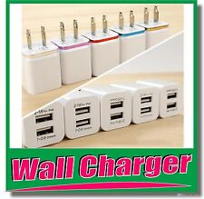 LOT 100 Universal 1A-USB-AC-Power-Dual Adapter Wall-Charger-iPhone-Samsung