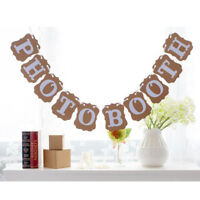 PHOTO BOOTH Bunting Banner Garland Wedding Party Hanging Decor Photo Props
