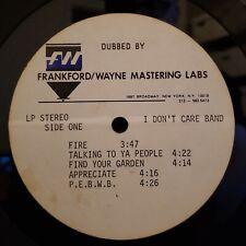 I Don't Care Band Rare Acetate Records LP Fire Jimi Hendrix Cover