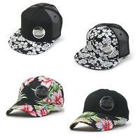 New Premium Floral Hawaiian Cotton Twill Adjustable Snapback Baseball Caps