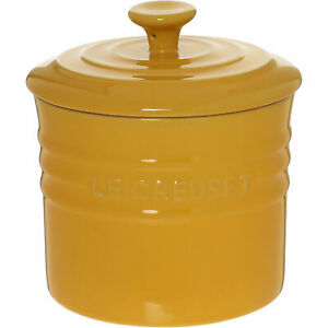 Le Creuset Stoneware Yellow 0.8L Storage Canister Jar Pot With Lid, new