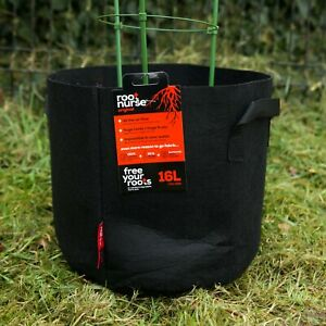 5 x 30L Root Nurse Fabric Pot Black