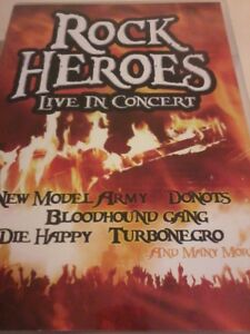 VARIOUS Rock Heroes DVD 2008 Live In Concert POST FREE