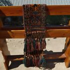 Rare Vintage Tribal Barouche Horse Trapping Hand woven Wall hanging display READ