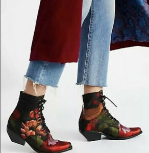 NEW Jeffrey Campbell Elmcroft Grove Floral Boots Size 6