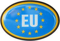 Europa EU Flagge Schild Relief Emblem HR Art. 15855 Kristalldekor Aufkleber