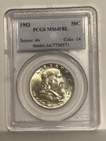 1953 50c PCGS MS64 FBL Franklin Half Dollar