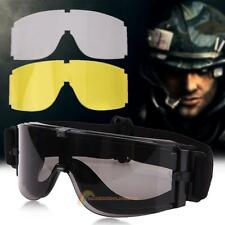 Outdoor Military Airsoft Tactical Sunglasses Glasses Army Paintball Goggles Set