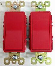 Qty 2 Leviton 5621-2R Red Commercial Spec Grade Wall Switch Decora Rocker 20A