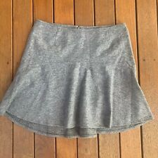 French Connection Size 12 Grey Wool Blend A Line Skirt Business Casual