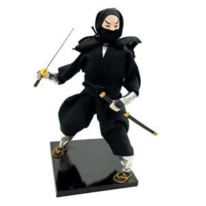 Vintage Japanese Samurai Ninja Oriental Doll Desk Ornament Crafts 12'' 30cm