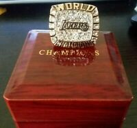 2000 LOS ANGELES LAKERS NBA Championship Ring 18k HEAVY GOLD PLATED BRYANT *USA*