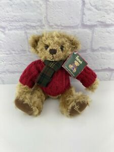 "NWT 2005 Harrods Collectable20th Anniversary 13"" Christmas Teddy Bear"