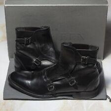 NWB $2100 ALEXANDER MCQUEEN TRIPLE MONK Boots 9UK/10US/43EU EE Width