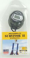 Accusplit SURVIVOR II Stopwatch New Factory Sealed - Color is Black D2