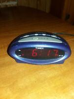 Timex Extra Loud Blue Alarm Clock With Snooze Button And Battery Back-Up - Works