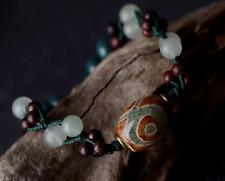 Purple Sandalwood Bead and Aventurine Quartz Bracelet