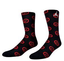 NIKE Jordan Retro 12 Flu Game Edition Crew Socks sz L Large (8-12) Black Red