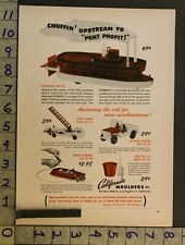 1950 Toy Ad Vehicle Riverboat Ladder Truck Jeep Car California Moulders La Tk19