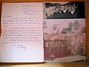 WW2 / Yangtse Incident H.M.S. Black Swan Collectable Letter & Re-Printed Photos