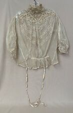 Antique Lace & Mesh Lingerie Top By John Forsythe New York 1908