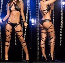 NEW WOMEN SEXY BLACK BODYSUIT LINGERIE BONDAGE FANCY DRESS EROTIC UNDERWEAR UK