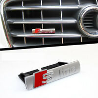 GRILL Grille CHROME Badge Decal For Audi S Line SPORTS CAR Emblem A3 A4 A5 TT Q7