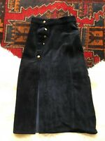 OFFERS WELCOME Understated Leather x Alyssa Miller FREE PEOPLE Suede Ink Skirt