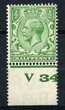 ½d Green, Block Cypher, Control V34, Perf, MOUNTED MINT. SG418.
