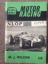 Ian Allen ABC of British Motor Racing - Motor Racing Book: M.J. Wilson.