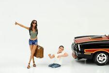 Anhalter Set Hitchhiker Figur 2 Figuren 1:18 Figures American Diorama  / no car
