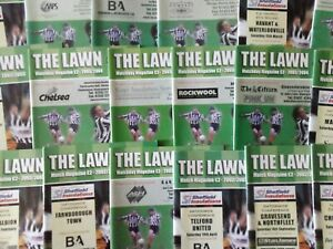 FOREST GREEN ROVERS   HOME PROGRAMMES SEASONS  2002/03 & 2003/04