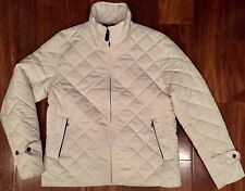 POLO RALPH LAUREN Women's Quilted Barn Riding Jacket Chic Cream Ivory M. NWT