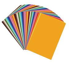 50 fogli cartoncino carta colorati colori assortiti 25x35 cm