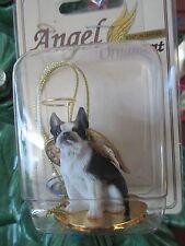 BOSTON TERRIER ~ ANGEL ORNAMENT  #DTA 12