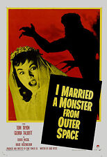 1950's Sci-Fi  * I Married a Monster From Outer Space *   Movie  Poster 1958