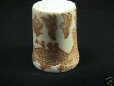 PINK WILLOW PORCELAIN THIMBLE PRICE & SHIPPING REDUCED SAVE NOW
