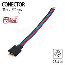 CABLE PARA CONECTAR EMPALMAR TIRAS LED clavija union tira led RGB 5050 3528 SMD
