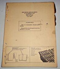 John Deere Grain Drill Attachments Parts Catalog Manual Book Jd Original