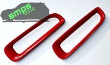 Mini R56 Rear Fog Light Covers JCW Red Gloss 2006 -2013 Gen 2 Cooper S.