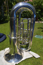 BASS TUBE Bb  BESSON NEW STANDARD COMPENSATING, SILVER,READY TO PLAY/ BASSO TUBA